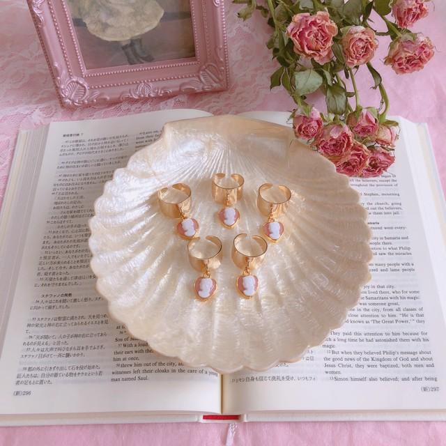 Antique Rose Cabochon _ Lace Ring