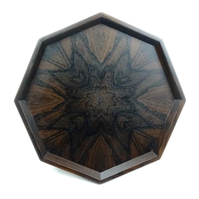 シャム柿(Ziricote) 八角形のトレー OBZC-0150