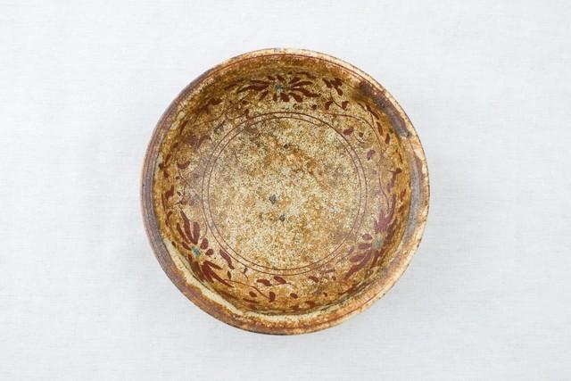 沼田智也 赤絵花文4寸鉢