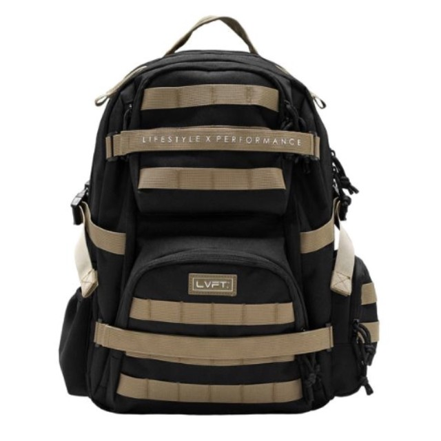 LIVE FIT Tactical Backpack/Black-Tan