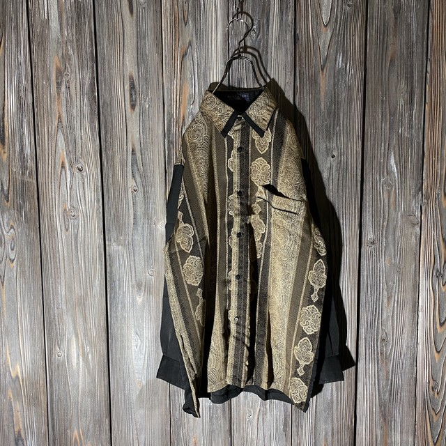 [used]antique switching shirt