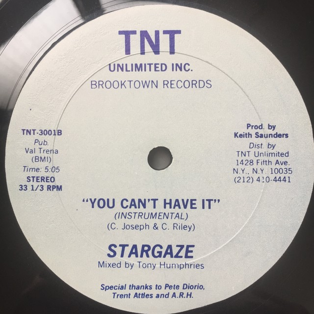 Stargaze ‎– You Can't Have It