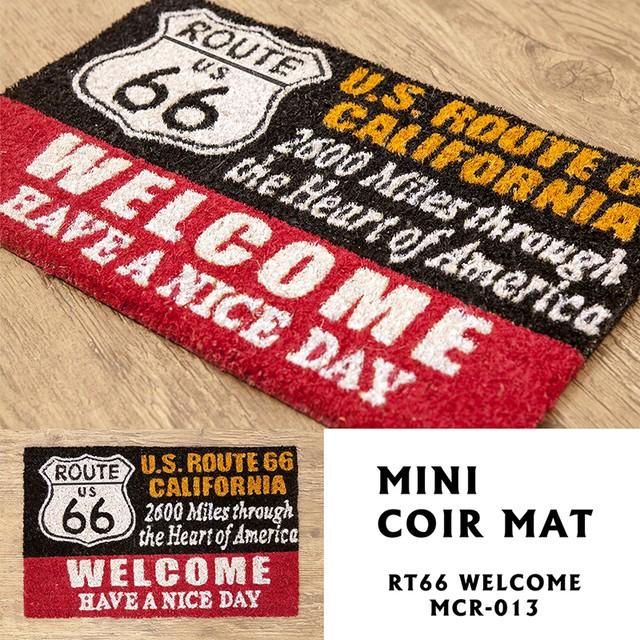 route66  welcome【玄関マット】MINIコイヤーマット<アメリカン雑貨>