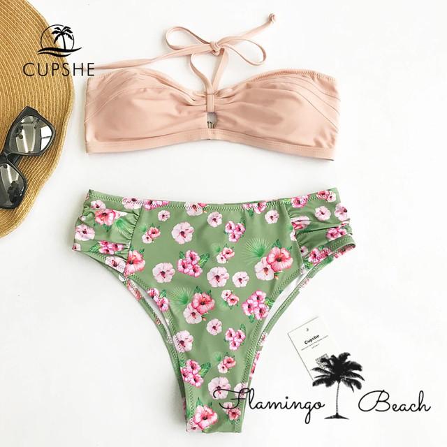 【FlamingoBeach】hibiscus high west bikini