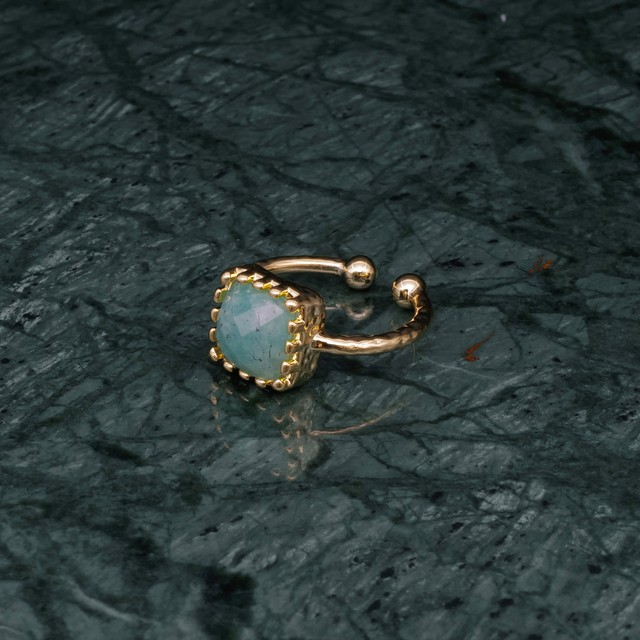 SINGLE SQUARE STONE RING GOLD 006