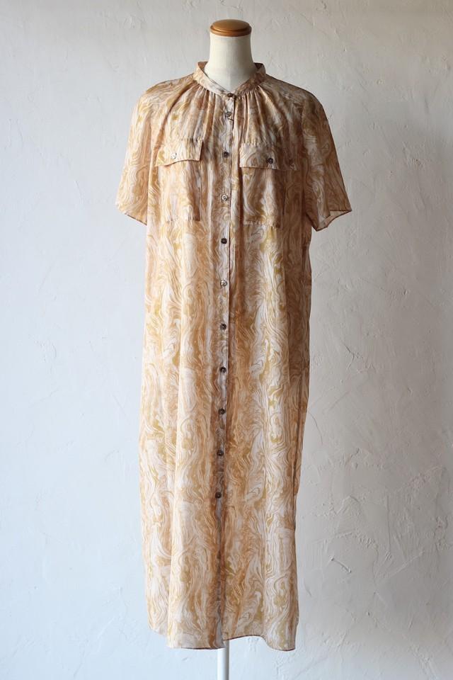 【Eicayoshinari】marble shirt onepiece