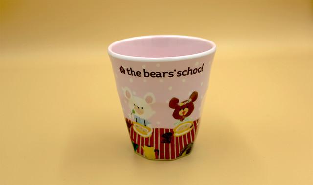 くまのがっこうメラミンカップ(ジャッキーアンドデイビッド)ピンク