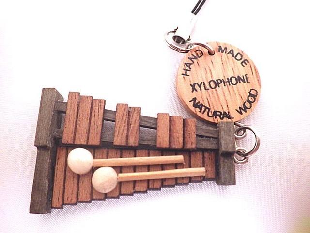 【再入荷】木琴 木製楽器ストラップ