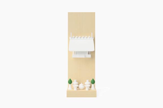 MIYA DESKTOP SHINMEI White (置型神棚 神明造 マットホワイト)
