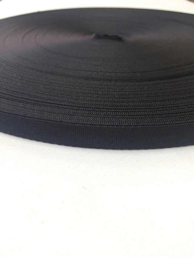 ナイロン  流綾織  12mm幅  1.2mm厚 黒  1m