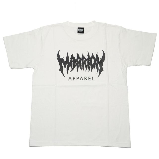 MARRION APPAREL LOGO T-shirts  (White×Black)