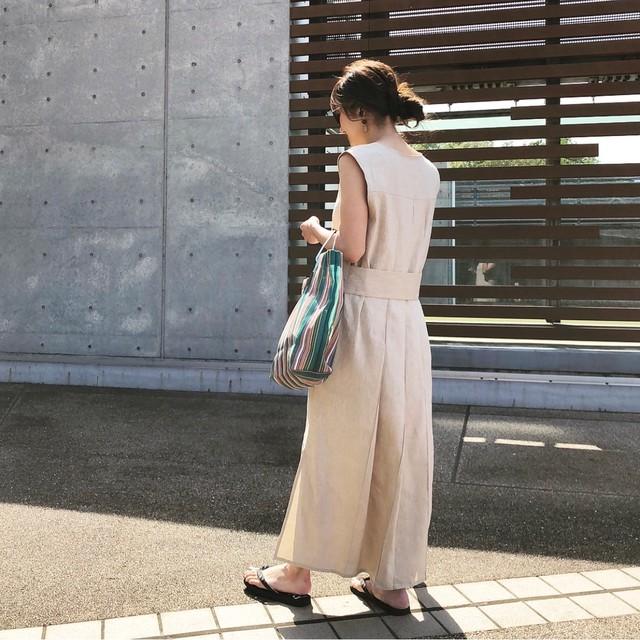 KU-UM×yuko,natsu,junko 3wayジャンパースカート  ベージュ