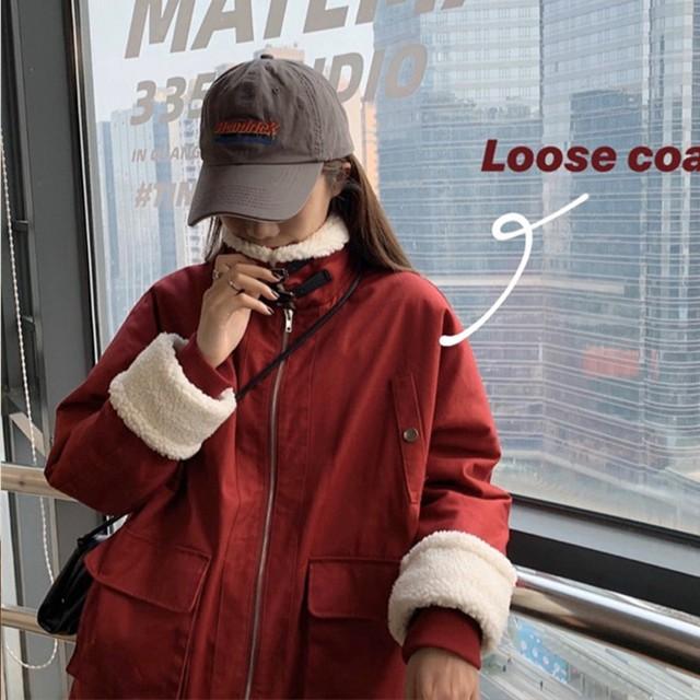 ネックベルトボアジャケット 2カラー