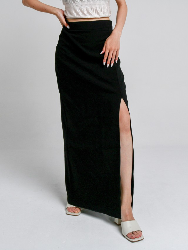 【WOMENS - 1 Size】TAILOR LONG SKIRT / Black