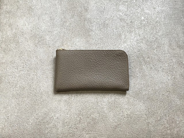 """SHOZO Wallet (soft shrink) : Grege * Won Grand Prix of the small leather article category in """"Asia Pacific Leather Fair 2019"""""""