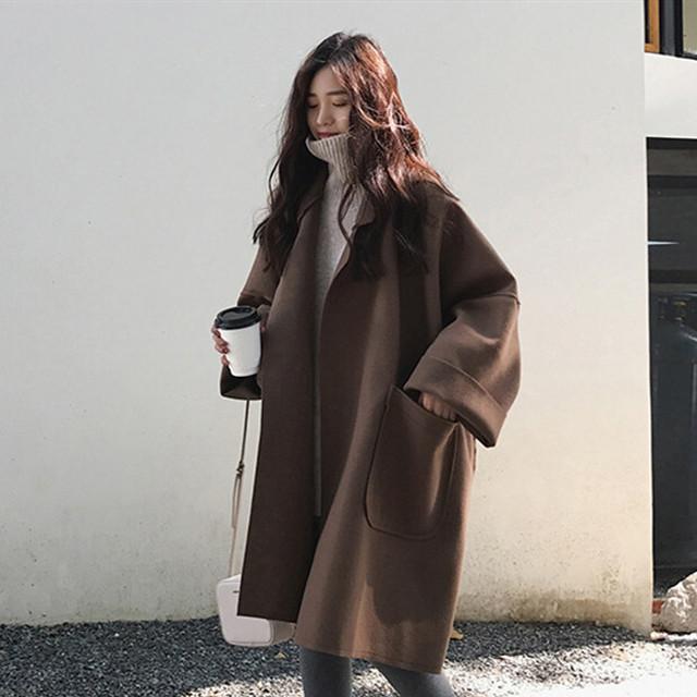 【アウター】高級感超人気レトロドルマンスリーブギャザー飾り折り襟トレンチコート24375625