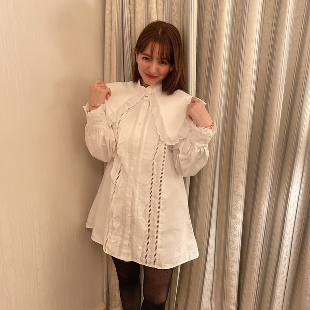 white frill onepiece