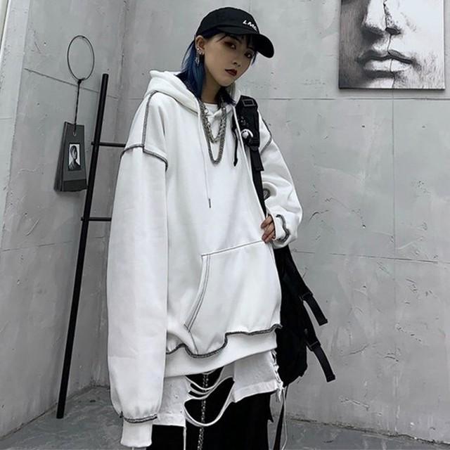 【トップス】ファッション合わせやすい無地パーカー34226635