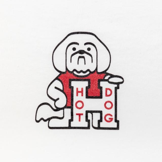TACOMA FUJI RECORDS HOT DOG LOGO WHITE