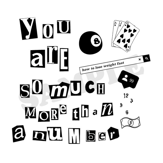【Cat & Parfum】You are so much more than a number Square Tote Bag