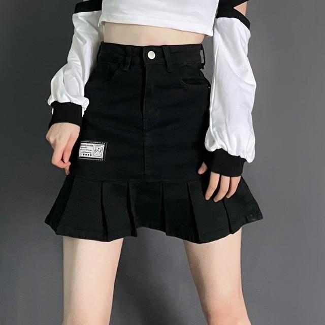 トランペットデニムミニスカート(全2色) / HWG461
