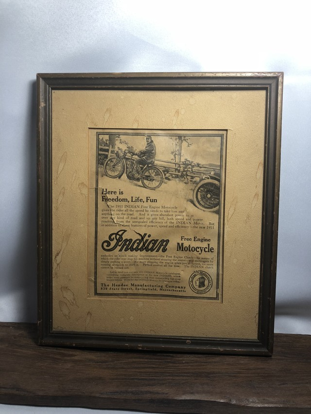 VINTAGE PICTURE【Indian Motocycle】インディアンモトサイクル walldeco AC079