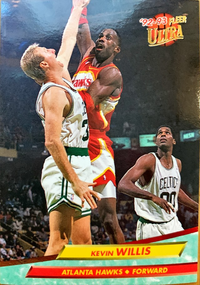 NBAカード 92-93FLEER Kevin Willis #7 HAWKS