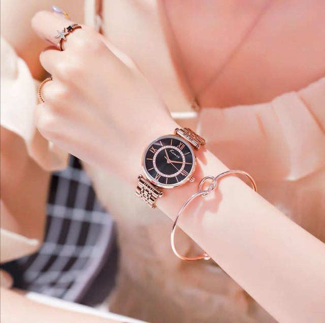 Kimio AF-6389(Black) レディース腕時計