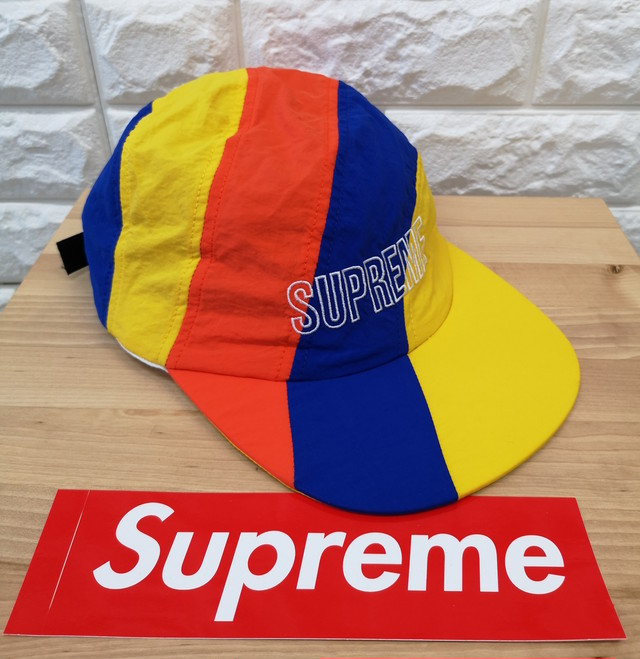 セール【Supreme】2018ss 帽子 (Diagonal Stripe Nylon Hat)