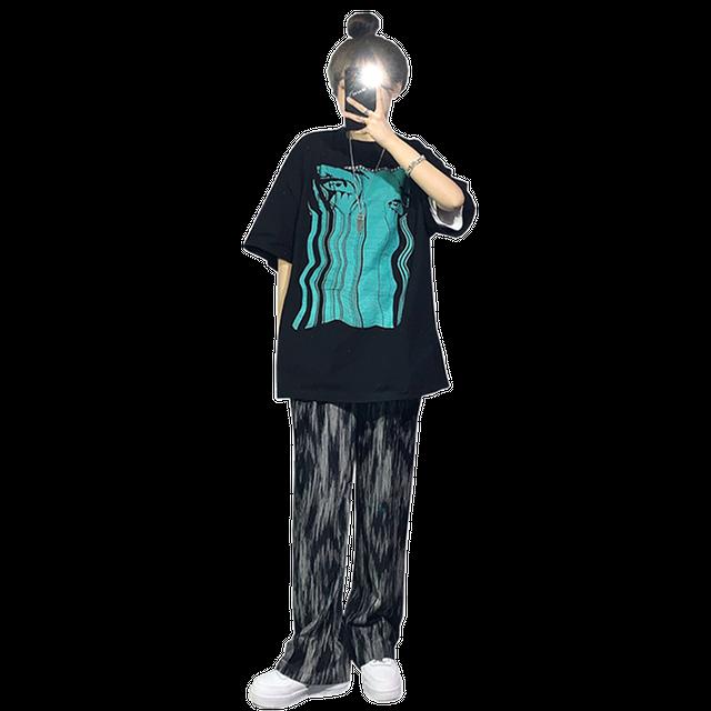 【セット】「単品注文」カジュアル半袖ラウンドネックプルオーバーTシャツ+パンツ49015170