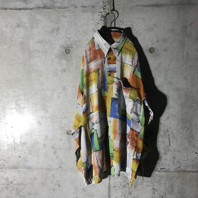 [used] colourful blocks designed shirt