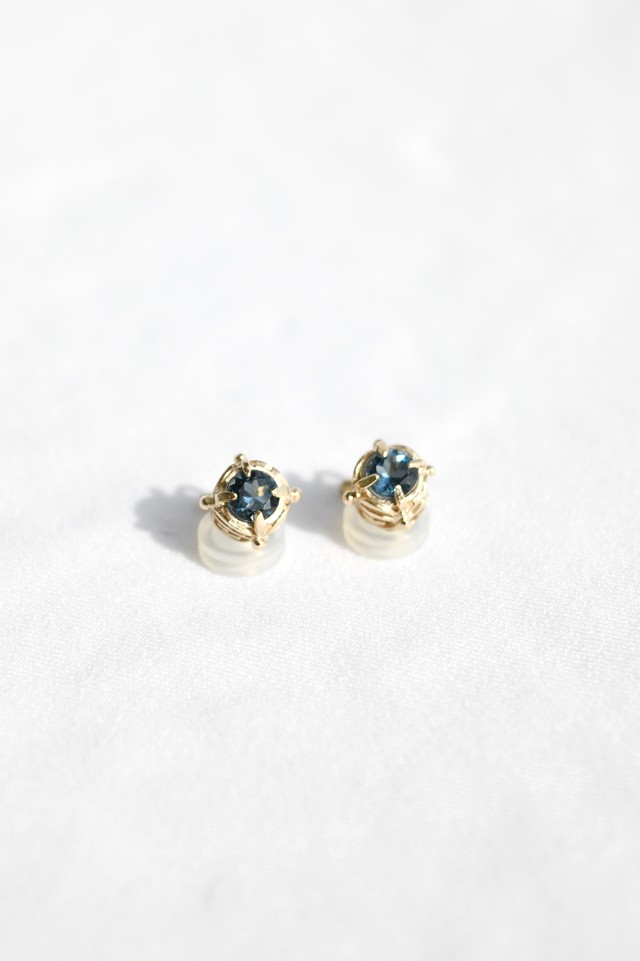 K10 Abyss Design Earrings London Blue Topaz 10金アビスイヤリング(ロンドンブルートパーズ)