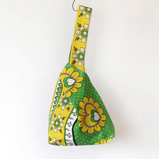 カンガのノットバッグ アフリカ布バッグ