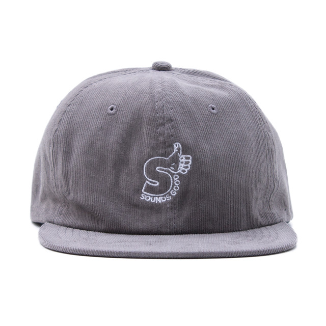 SOUNDS GOOD CORDUROY CAP #GREY