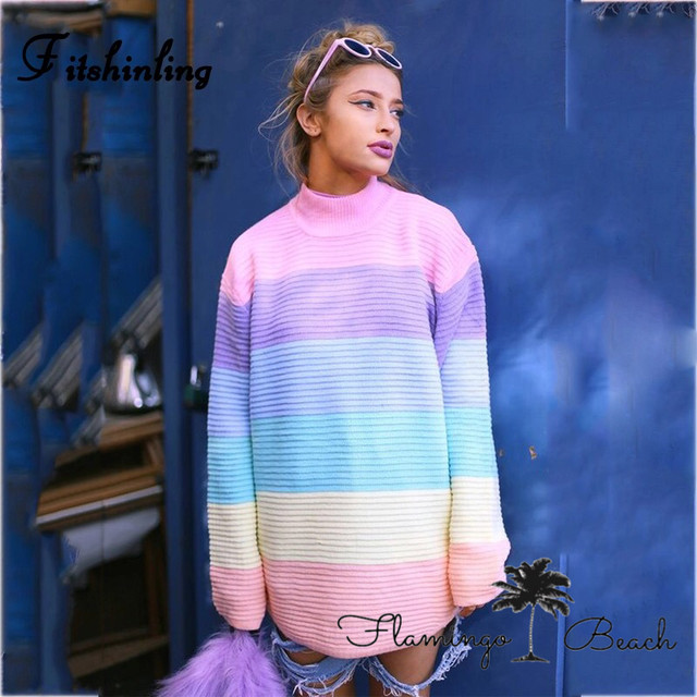 【FlamingoBeach】pastel knit long