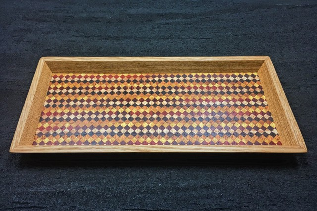 wood checker mini tray 0093