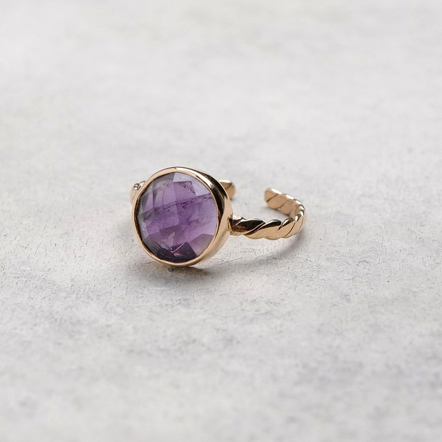 SINGLE STONE ADJUSTABLE RING 024
