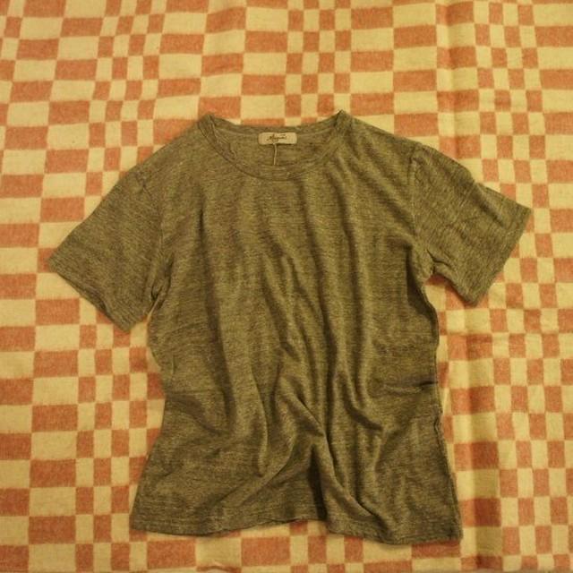 ICHI Antiquetes ベーシック半袖Tシャツ 杢グレー