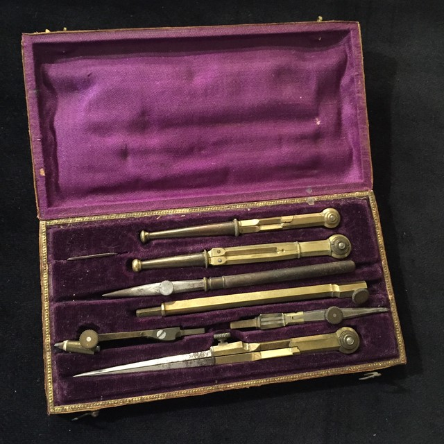Antique compass divider set
