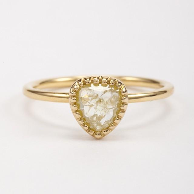 ナチュラルダイヤモンド リング 0.54ct チェカ K18イエローゴールド