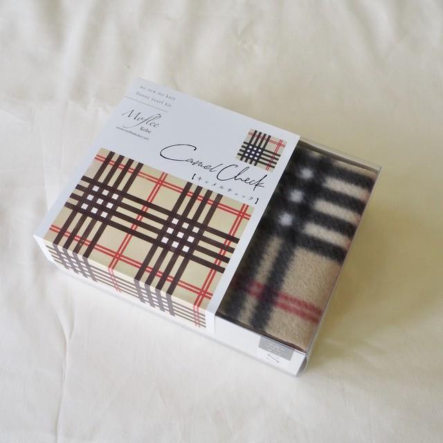 【Moflee Kit Box】 キャメルチェック Camel Check ◆Sサイズ