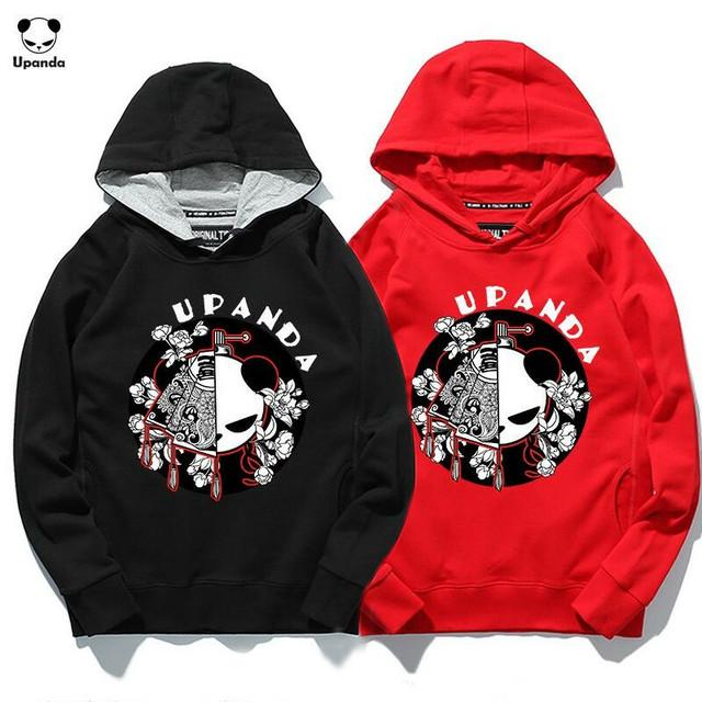 ユニセックス メンズ/レディース パンダプリント プルオーバーパーカー UPANDA ストリート / Hooded panda printed cotton loose trendy (DCT-575919812618_d)
