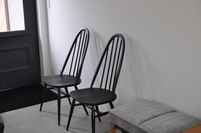 ercol quaker chair (black painted)