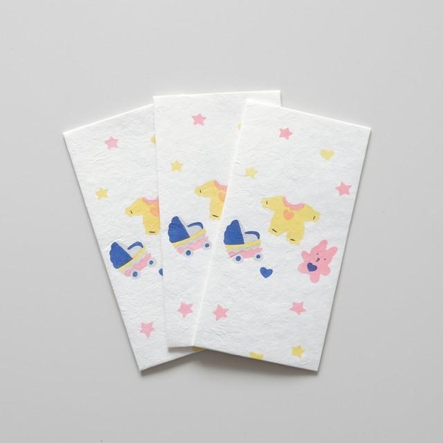 手摺り型染め金封「贈り物シリーズ」