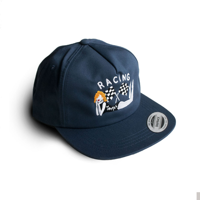 RACING FLAG CAP NAVY