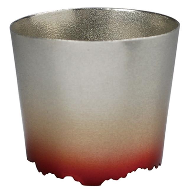 SHIKICOLORS SCARLET ROCK CUP(錫の酒器)
