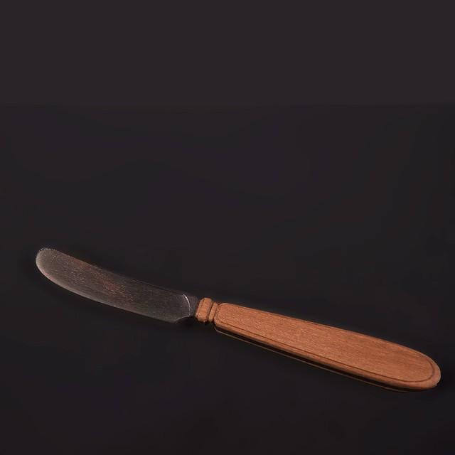 les trois entrepots  オリジナル エボニー&ウォールナット バターナイフ