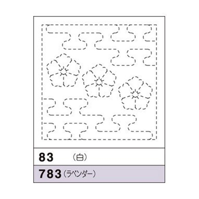 オリムパス花ふきん No.83(白) 唐花と霞つなぎ(からはなとかすみつなぎ)