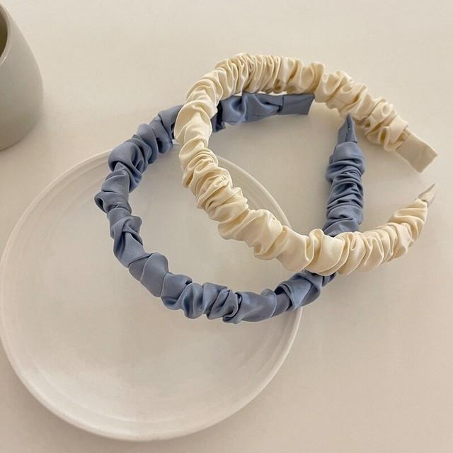 くしゅくしゅトレンドカチューシャ(Blue,White)