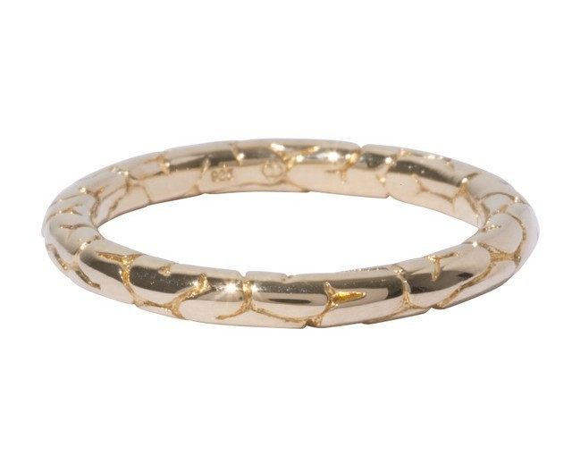 【TABOO】Brain Round Ring Gold-Coating